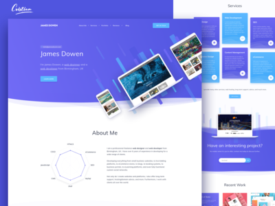 Homepage for a great developer