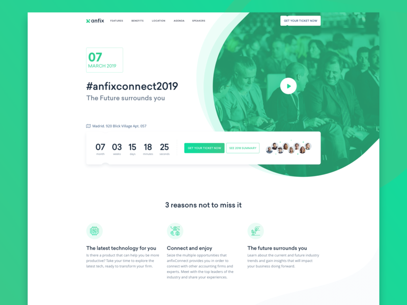 AnfixConnect2019-event landing page web design web design marketing webdesign website ui business event hero summit accounting invoice software