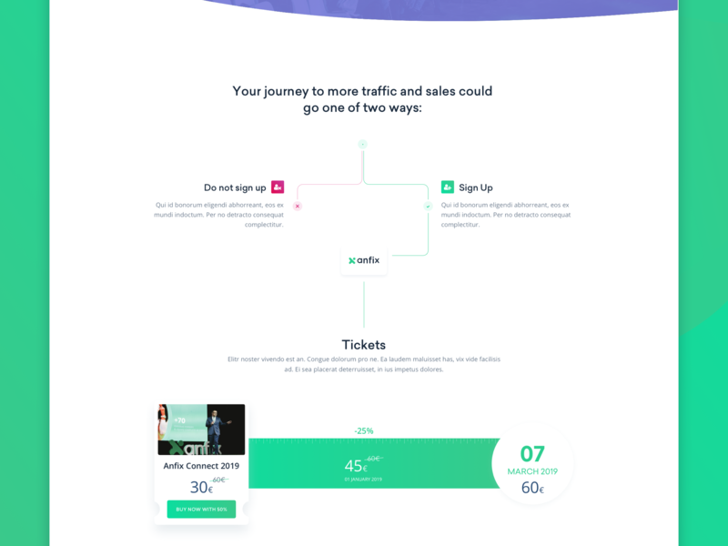 AnfixConnect2019-Tickets user interface busines conferences conference calendar buy tickets meeting event ticket business website web design ui design web