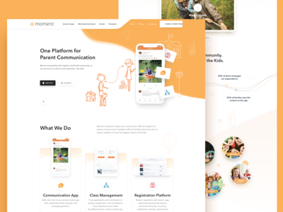 App Landing Page for Moment