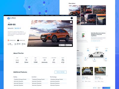 Landing Page -Car Dealer Agency product specifications audi car ux webdesign ecommerce shop ui web design business marketing website web design