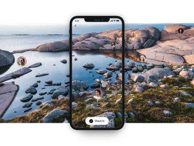 Instagram VR travel mode - Concept
