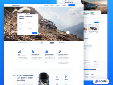 UI / UX design for an auto platform!