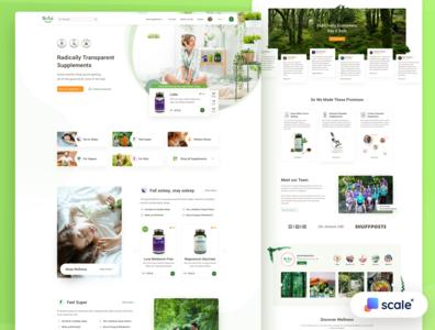 Supplements Shop - UI/UX Design