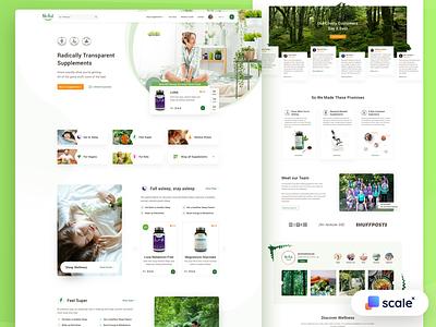 Supplements Shop - UI/UX Design ui design business uiux shopify shop ecommerce supplements branding web design design web