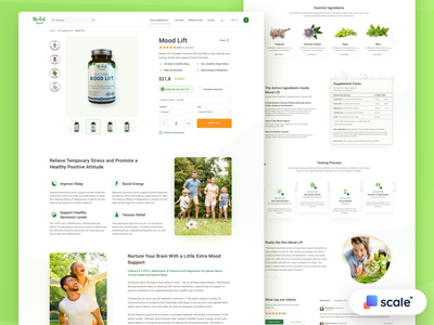 Supplements Shop - Product Page branding shopify shop ecommerce product page product ux ui web design web