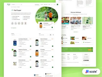 Supplements Shop - Category Page shopify shop ecommerce food supplements business branding design category web design design web