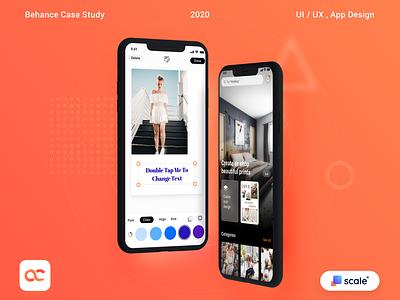 Canvas Creator (UI/UX, App Design) sketch mobile ios app design minimal app vector branding design ui