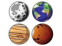 Planet Decals
