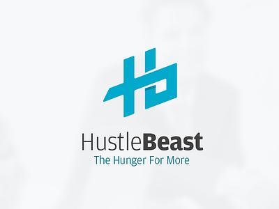 Hustlebeast letter logo flat technology