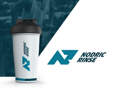 NR - Logo design flat typography branding letter health fitness simple logo lettering