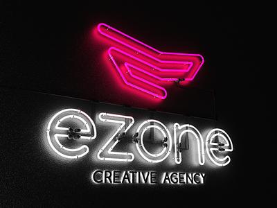 EZONE's 3D Neon Logo