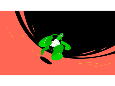 How fast does a turtle run? character design fun motion design motion running turtle motion graphic motion graphics animation illustration