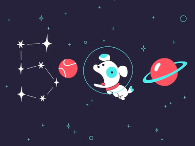 5000km away space dog traditional animation fun animation studio cel animation motiongraphics motion graphic frame by frame motion graphics motion design animation illustration