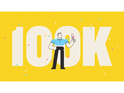 100k Subscribers 100k youtube channel youtube character design motion motion graphics motion design animation illustration