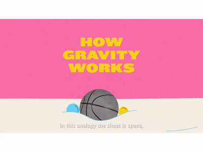 How Gravity Works? after effects explainer videos gravitational waves gravity physics explainer animation educational video animation studio motion graphic explainer video motiongraphics motion snippet motion graphics motion design animation illustration
