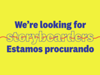 We're looking for storyboarders