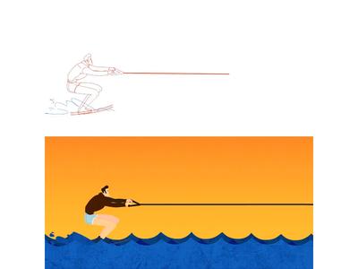 Rough Water Skiing