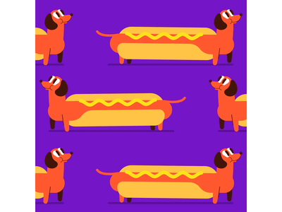 national hotdog day sausage dog hotdog dog vector character design character motion graphic motion graphics motiongraphics motion design motion fun animation illustration