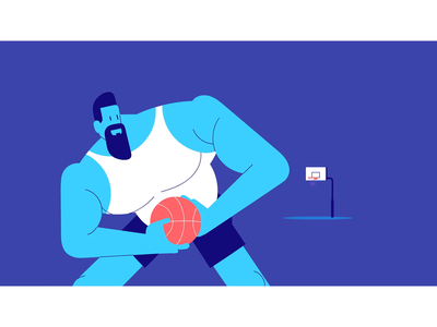 two-factor authentication basket ball hacker 2fa basketball motion graphics motion motion design fun explainer video snippet animation illustration