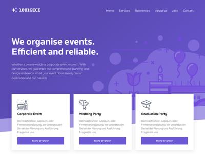 1001gece - Event Management Landing Page