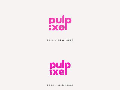 Pulpixel Logo Restyling pink logo brand identity restyling logo design branding design logotype logo