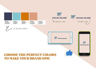 Pantone Color Palette For Branding neutral blue sand beach summer indesign illustrator photoshop logo branding color scheme color palette color