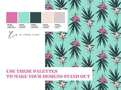 Pantone Color Palette For Branding neutral green pink tropical logo branding indesign illustrator photoshop color scheme color palette color