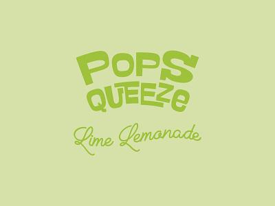 Popsqueeze Lime Lemonade - Logo brand brand design logo design logotype logo branding design branding identity color palette modern pop fun fancy typography lettering