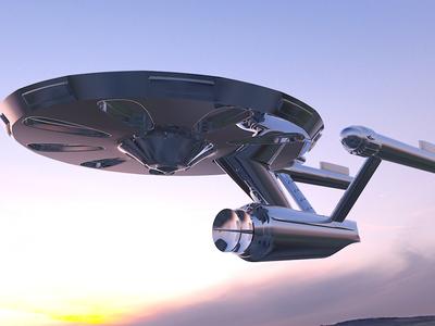 U.S.S. Enterprise c4d trek star
