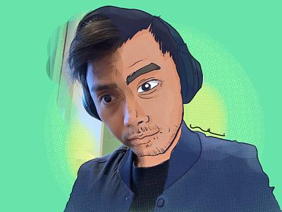 Toon me self portrait apple pencil ipad pro procreate art procreate app procreate toonmechallenge toonme