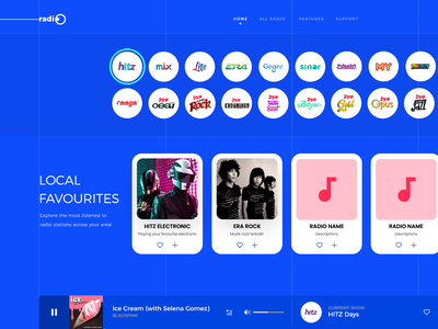 superadio simplified website music new project ui