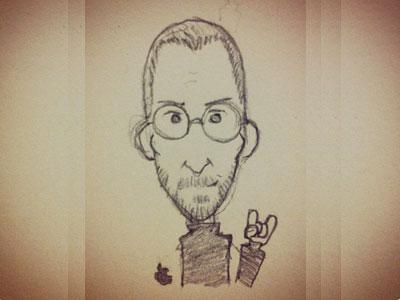 Steve Jobs in memory. You rocked! doodle steve jobs apple