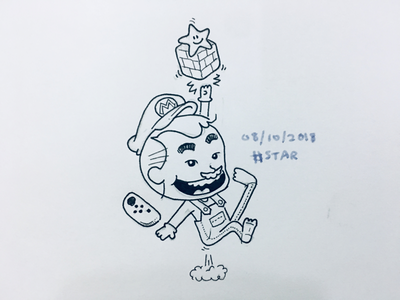 Star (Inktober 2018 - Day 08) kids mario maikicomics miniihairaa ohmaiki inktober2018 inktober