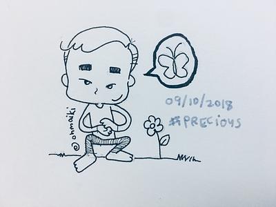 Precious (Inktober 2018 - Day 09) handdrawn kids kidscomic miniihairaa ohmaiki inktober2018 inktober