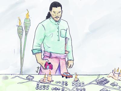 Jon knows nothing about Hari Raya trip aidilfitri procreate applepencil ipadpro syok.my syok tips eidmubarak eid hariraya jonsnow gameofthrones illustration