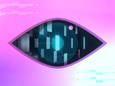 All-seeing eye of AI eye ai illustrator vector illustration design