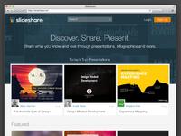 Slideshare homepage real pixels