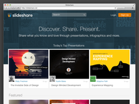 SlideShare homepage redesign