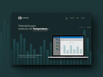 Telemetry Platform Landing Page webapp web ui telemetrics stats statistics landingpage desktop data dashboard