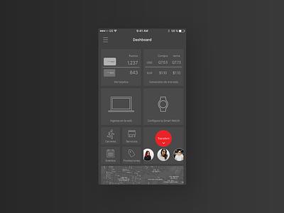 Banking App app mobile dark ui ux minimal bank banking locations dashboard