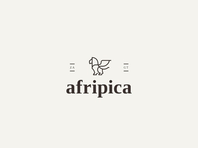 Logotype Afripica guatemala animal graphic brand serif brand agency icon branding typography design minimal logo