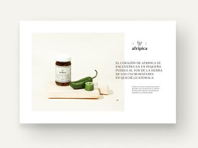 Website Afripica responsive website branding guatemala digital desktop typography minimal ux ui design web