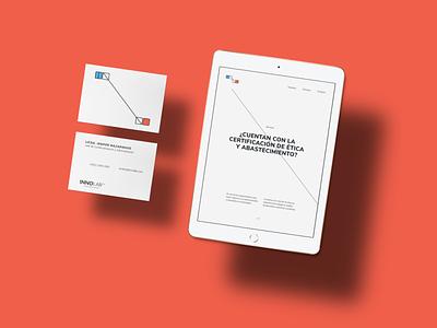 Innolab Web branding concept branding agency graphic website vector icon digital logo guatemala branding typography web design minimal ux ui