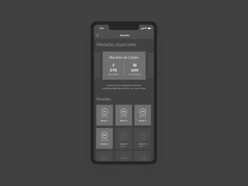 Bam Carreras - Medals ios 11 dark ui flat digital app guatemala web design ux ui minimal