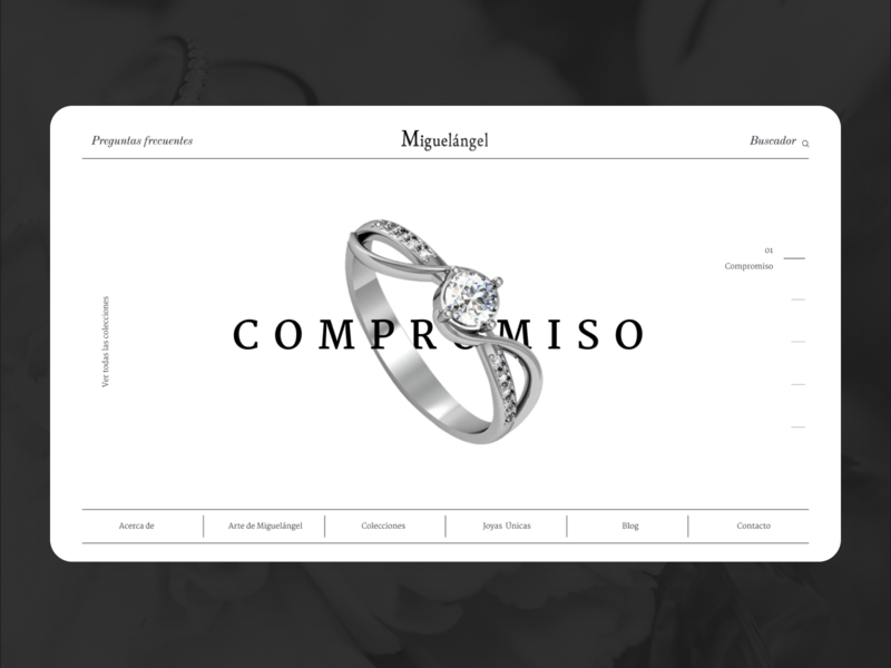 Joyas Miguelángel desktop typography jewelry store jewelry website guatemala web design ux ui minimal