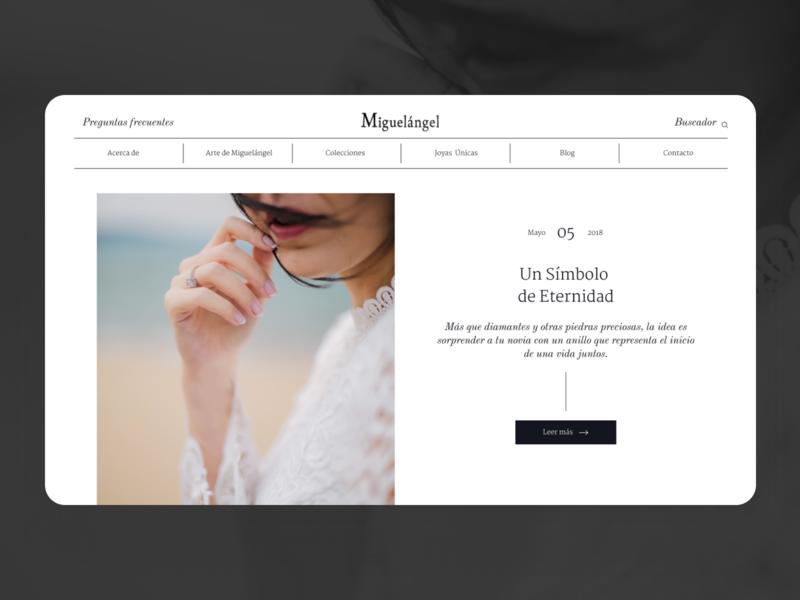 Joyas Miguelángel - Blog Page blog design digital website guatemala web design ux ui minimal blog