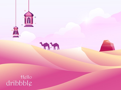 Dribbble ramadan first shot desert dribbble
