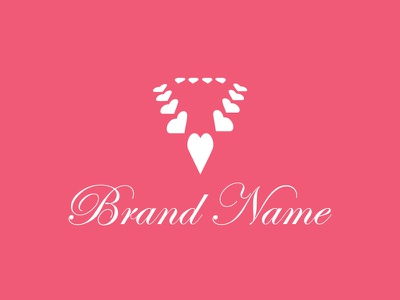 Ready-Made Logos For Sale -  Elegant Necklace accesories jewellery jewel woman heart crystal diamonds necklace branding mack chan china design pre-made mack logos minimalism logo hong kong
