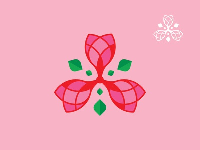 Ready-Made Logos For Sale - Rose 02 hong kong leaf beauty florists flower rose branding mack chan pre-made mack logos minimalism logo